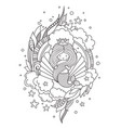beautiful princess mermaid on the background of a vector image vector image