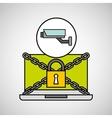camera surveillance security internet technology vector image