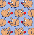 cartoon pig background vector image vector image