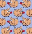 cartoon pig background vector image vector image