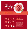 cherry pie cooking inforgaphics vector image