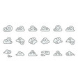 chinese cloud icon raw material for use filled vector image vector image