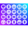 computer shape carved flat icons set vector image vector image
