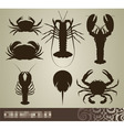 crustacean set vector image vector image