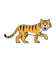 cute tiger walking vector image