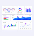 dashboard graphs statistical data charts vector image