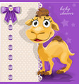 delicate bashower card with cute bacamel vector image