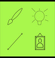 design elements simple linear outline icon set vector image