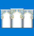 eastern arch of the mosaic carved architecture vector image