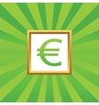 Euro picture icon vector image vector image