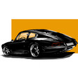 european classic sports car silhouettes vector image vector image