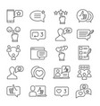 feedback line icon set vector image