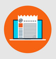 flat style icon of email marketing concept vector image vector image