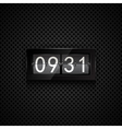 flip clock vector image vector image
