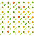 floral seamless background with oblique rows of vector image vector image