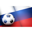 football ball and russia flag vector image vector image