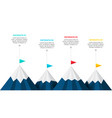 four mountains infographic template 4 steps to vector image