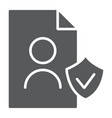 gdpr personall data glyph icon private and gdpr vector image vector image