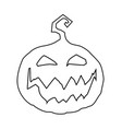 halloween outline of scary smiling pumpkin j vector image vector image