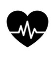 heart beat icon vector image vector image