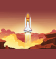 heavy rocket launch flat vector image vector image