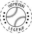 homerun legend on white background vector image vector image