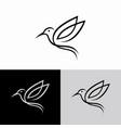 hummingbird line logo icon designs vector image vector image