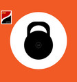 kettlebell icon in a white circle vector image vector image
