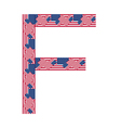 Letter F made of USA flags vector image