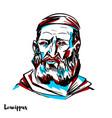 leucippus portrait vector image vector image
