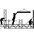 men working vector image vector image