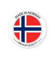 modern made in norway label vector image