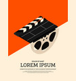 movie and film modern retro vintage poster vector image vector image