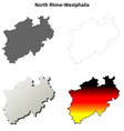 North Rhine-Westphalia blank outline map set vector image vector image