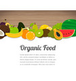 organic food card design food background with vector image vector image