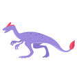 oviraptor in cartoon style isolated on a white vector image