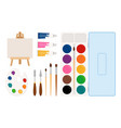 painter art tools vector image
