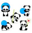 Panda Style vector image vector image
