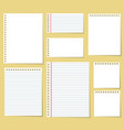 paper blank notes office document message vector image vector image