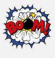 pop art comic text boom vector image vector image