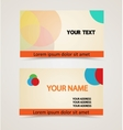 retro vintage business card vector image vector image