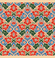 seamless floral pattern in the style of damask vector image vector image