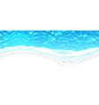 seaside beach azure waves on coast vector image vector image