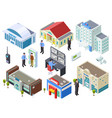security system for various public buildings vector image vector image
