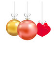 set of christmas and new year decorations vector image vector image