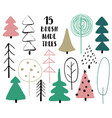 set of funny trees vector image vector image