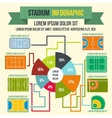 Stadium infographic elements flat style vector image