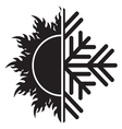 summer winter air conditioning icon21 resize vector image vector image