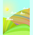 sunny summer fields rural landscape vector image