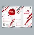 template brochure layout design abstract vector image